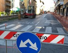 Anzio – Cantiere in Via Aldobrandini, nuovi lavori e strada chiusa