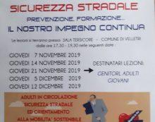 Sicurezza stradale: oggi pomeriggio incontro per alunni e genitori in Comune a Velletri.