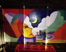 """""""Nuova vita"""" alle pensiline degli autobus di Aprilia: questa domenica un nuovo intervento artistico a Campoverde."""