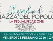 Riqualificazione del giardino di Piazza del Popolo, a Latina: questo venerdì l'inaugurazione.