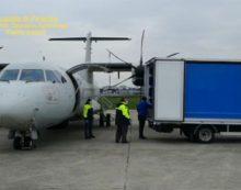 A Pratica di Mare atterra aereo per la Protezione Civile con materiale sanitario