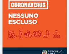 """Piano """"Nessuno escluso"""" della Regione Lazio: stanziati 40 milioni di euro per disoccupati, rider, universitari, tirocinanti, colf e badanti."""