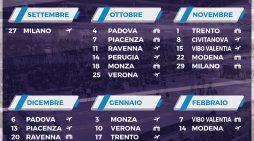 Ecco il calendario della Superlega, la Top Volley inizia in trasferta a Milano