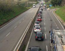 Code per un altro incidente sulla Pontina, tra  Spinaceto e Monte D'Oro. Mezzi rimossi.