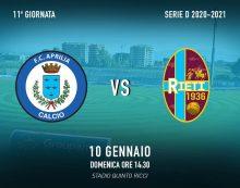 Calcio – Aprilia domenica sfida Rieti