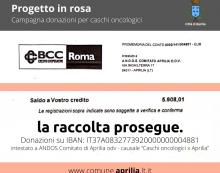 """APRILIA – """"Progetto in Rosa"""", fino a dicembre 2020 raccolti quasi 6.000 euro. Serve ancora lo sforzo di tutti."""