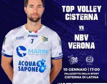 Pallavolo di Superlega: questa domenica la Top Volley Cisterna riceve la visita dell'NBV Verona.
