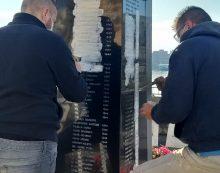 Sbarco di Anzio: in Piazza Garibaldi, al Monumento ai Caduti, in corso i lavori di restyling della stele