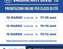 Vaccino anticovid, nel Lazio da questa settimana si aprono le prenotazioni per nuove fasce d'età