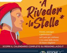 """#Dantedi2021: la Regione Lazio celebra Dante Alighieri con il programma di eventi """"A Riveder le Stelle""""."""
