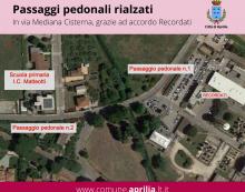Accordo tra il Comune di Aprilia e la Recordati per realizzare degli attraversamenti pedonali sulla via Mediana Cisterna.