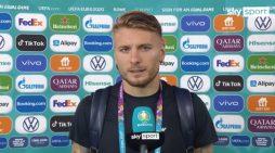 L'attaccante Ciro Immobile dedica la vittoria dell'Italia ai piccoli Daniel e David di Ardea.