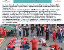 """Rianimazione cardiopolmonare: """"Flash Mob di Mass Training RCP"""" questo sabato ad Aprilia a cura della Croce Rossa."""