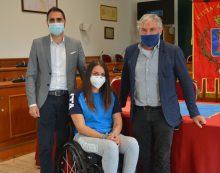 Il Sindaco di Pomezia incontra Michela Fabbri, atleta paralimpica di scherma.