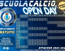 Dal 1° al 16 luglio Open Day gratuiti per tutte le categorie della scuola Calcio Aprilia.
