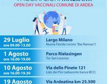 Open Day vaccinale oggi ad Ardea dalle 9.00 alle 13.00.