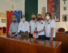 Il Sindaco di Pomezia incontra una delegazione della squadra di pallavolo femminile Virtus Invicta Pomezia.