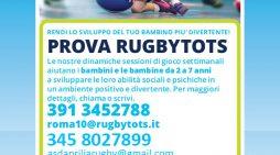 """L'Aprilia Rugby propone l'iniziativa """"Rugbytots""""  per bambine e bambini"""