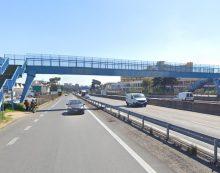 Al via i lavori per la rimozione del sovrappasso pedonale della Pontina all'altezza di Pomezia