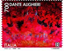 Dante Alighieri, emessi i francobolli commemorativi