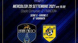 Calcio, serie C: mercoledì si gioca Latina-Juve Stabia. Aperte le prevendite