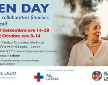 """La Asl di Latina organizza due giornate di """"Open Day"""" vaccinali dedicate a collaboratori familiari, badanti e colf."""