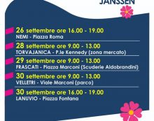 Campagna vaccinale itinerante della Asl Roma6. Ecco le nuove tappe del camper, dal 26 al 30 Settembre.