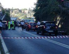 Grave incidente a Velletri, sulla via Appia, in direzione di Genzano: ferito giovane motociclista