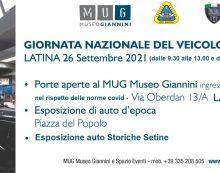 """Porte aperte e visita gratuita questa domenica 26 Settembre al """"MUG Museo Giannini"""" di Latina."""