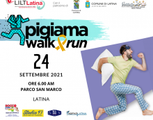 """Tutto pronto a Latina per la """"Pigiama Walk and Run"""": il 24 Settembre la corsa della Lilt per sostenere i piccoli pazienti oncologici."""