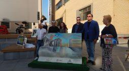 """APRILIA –  """"Salotti Culturali"""" in  piazza delle Erbe. Donata alla città una panchina culturale. Le FOTO"""
