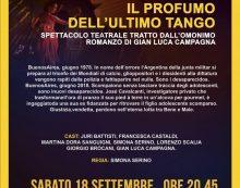"""Il Belvedere di Sermoneta ospita la pièce teatrale """"Il profumo dell'ultimo tango"""""""