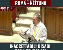 Continui disagi sulla linea Roma-Nettuno. Il Deputato 5 Stelle Marco Bella annuncia un'interrogazione parlamentare.