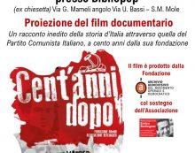 """A Marino la proiezione del film """"Cent'anni dopo"""". Racconto inedito della storia d'Italia attraverso la storia del PCI."""