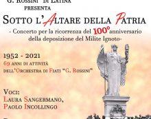 """""""Sotto l'Altare della Patria"""": l'orchestra di Fiati """"Rossini"""" questa domenica in concerto alla cattedrale San Marco di Latina."""